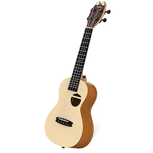 XYF 23 Zoll Kleine Gitarre Sopran-Ukulele Für Anfänger, Professioneller Holz-Ukelele-Bausatz, Snowboard-Ukulele Für Schüler Und Erwachsene (Color : A, Size : 23 INCHES)