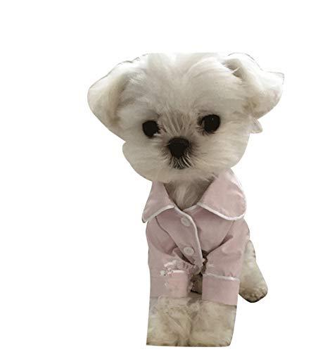 ODOKEI Softshell Hundemantel Puppy Dog Pyjamas Cozy Soft Jumpsuits Haustier Schlafanzug Kleidung für kleine Medium