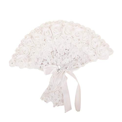 Abanico de mano no plegable, abanicos de encaje para boda, baile, fiesta,...