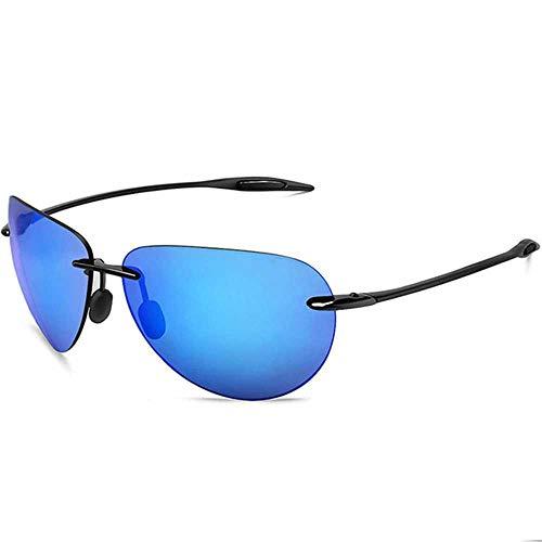 JMCWAN Gafas de sol deportivas clásicas con montura ultraligera para hombres y mujeres, gafas de sol UV400 C3 Negro Azul talla única