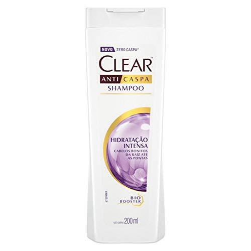 Shampoo Anticaspa Clear Women Hidratação Intensa 200 ML, Clear, Branco