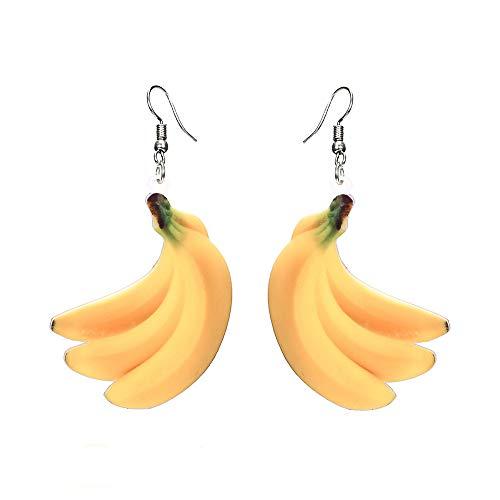 Fashion Drop Dangle Earrings Sets,Trendy Statement Creative Funny Cute Acrylic Fruit Earrings Sets Design Creative Personalized For Women Teen Girls (H)