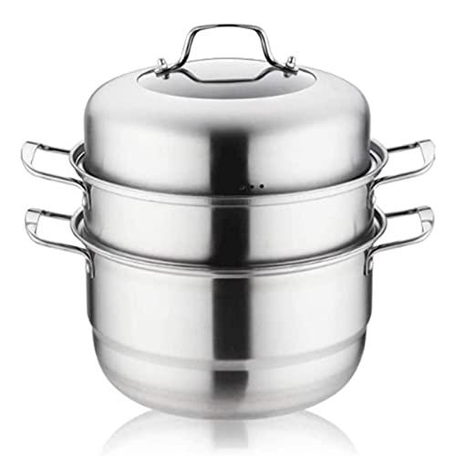 HHTD Acero Inoxidable Tres Capas Sopa de Vapor Olla Olla Cocina Cocina