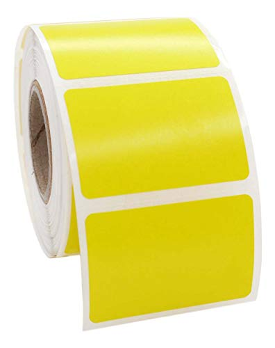 """12 Rolls; Yellow 1.5x1 Direct Thermal 520 Color Labels per Roll Compatible with Zebra/Eltron- 1.5""""x1"""" Labels (1-1/2"""" x 1"""") - BPA Free!"""