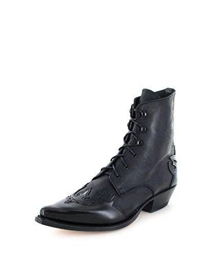 Sendra Boots 11699 Bottines pour femme, bottes western Noir/rouge - - Noir , 36 EU