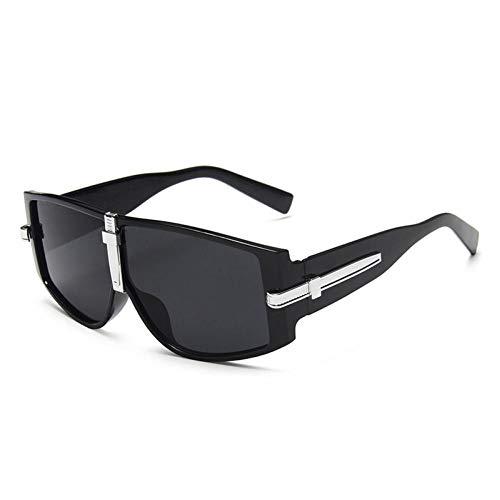 ZZOW Gafas De Sol Cuadradas De Gran Tamaño para Mujer, Diseñador De Marca, Vintage, Azul Claro, Naranja, para Hombre, Gafas De Sol, Gafas Punk