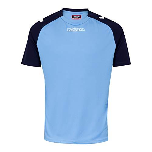 Kappa PADERNO SS Camiseta de equipación, Hombre, Azul Cielo/Azul Marino, M