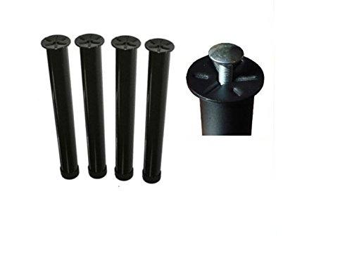 Set 4 Piedi Rete Universali 30 cm Gambe In Ferro Completi di Bulloni - MADE IN ITALY