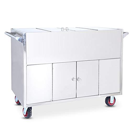 DNNAL Edelstahlwagen, Steriler Schmutzrecycling-LKW Versiegelter Transporter Sterilisierter Warenkorb Medizinwagen Nutzfahrzeug
