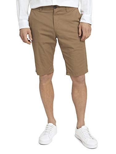 TOM TAILOR Herren 1025024 Josh Chino Bermuda Shorts, 10384-Faded Leather Brown, 31