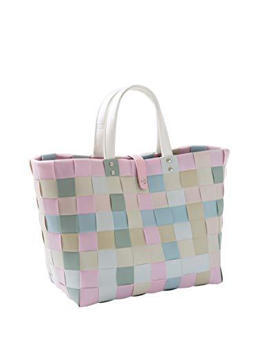 Kobolo Einkaufstasche Einkaufskorb Kunststoff geflochten Shopper Lockardi Candy XL