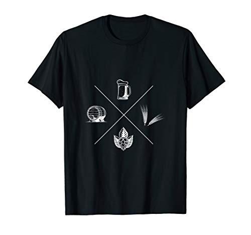 Bier Hopfen Gerste Bierchen Herrentag Geschenk Starkbier T-Shirt