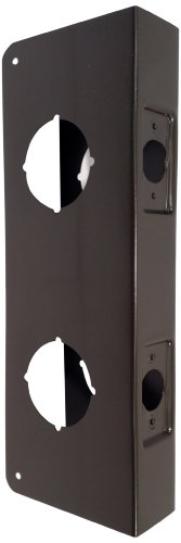 Don-Jo 942-CW 22 Gauge Stainless Steel Classic Wrap-Around Plate, Oil Rubbed Bronze Finish, 4' Width x 9' Height, for Double Lock Combination Locksets