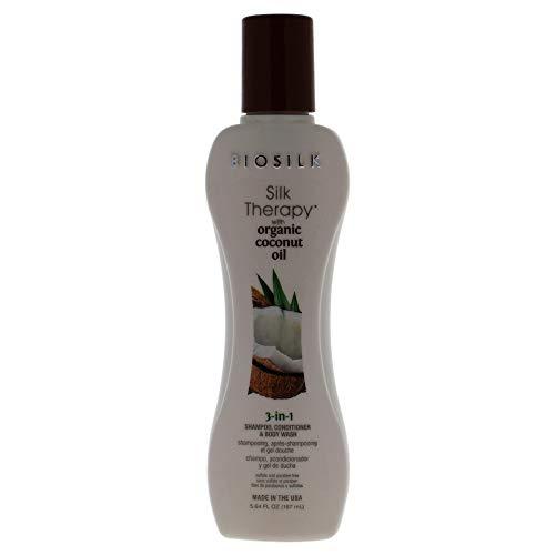 BioSilk Thérapie avec le Shampooing Hydratant à l'Huile de Noix de Coco Biologique 167 ml