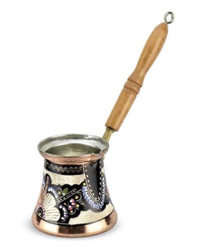 RJJX Home Anatolischen Türkisch osmanischen Arabisch Tee Kaffee Espresso Pot% 100 Copper Türkei Kaffeemaschine Cezve Ibrik Made in Turkey Gift Set