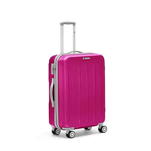 R Roncato Flight 4r Trolley Laptop Rollkoffer 76 Centimeters Violett (Fucsia)