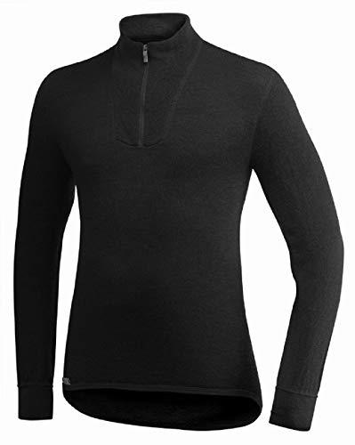 Woolpower 400 à col roulé à manches longues Zipp T-shirt men – Sous-vêtements thermiques, noir, Small