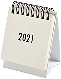 Hosfairy 2021 New Year Calendar Small Desk Calendar Simple Desk Coil Notepad Kraft Paper Calendar Daily Schedule Yearly Ag...
