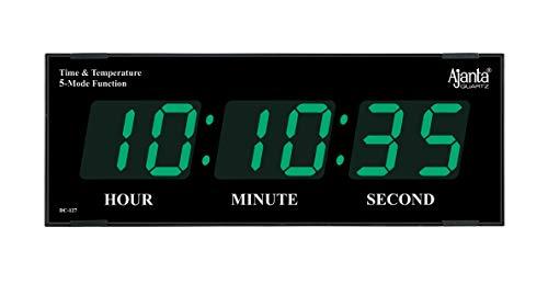 Ajanta Plastic Quartz Digital Wall Clock for Home and Office , Black