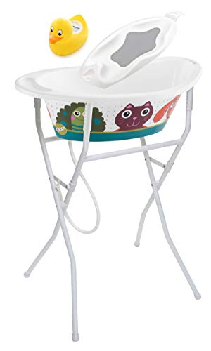 Rotho Babydesign 21054000101 Solution de Bain Style! Oops Blanc Multicolore