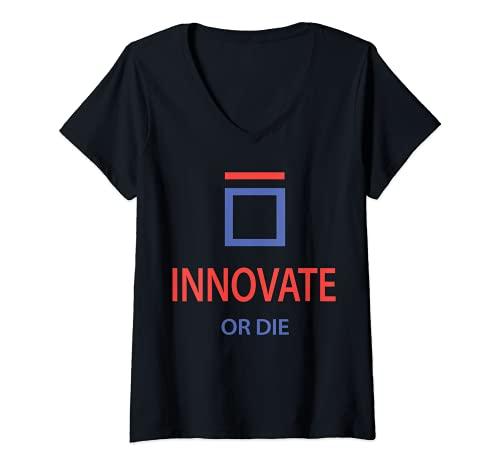 Mujer INNOVATE O DIE Shirt 2021 Camiseta Cuello V