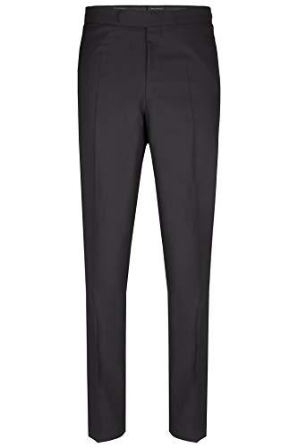 Wilvorst Herren Frack Hose | Schwarz | Slim Line - Slim Fit | IWS Fresco 260g | White Tie | 100% Schurwolle | (52)