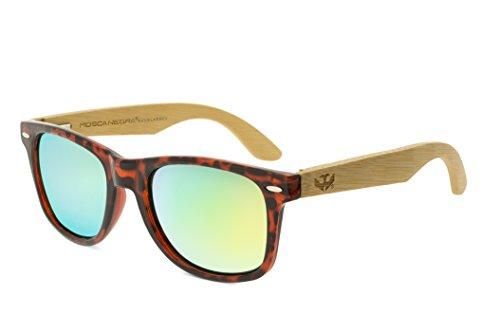 Gafas de Madera Mosca Negra Modelo Mix Leopard Wood Sunglasses