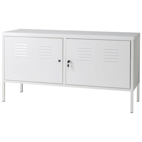 Ikea White Cabinet Tv Stand Multi-use Lockable