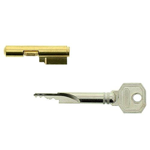 Burg-Wächter Schlüssellochsperrer für Einsteckschlösser, Zimmertürsicherung, Zylinder-Durchmesser: 7 mm, Inkl. 3 Schlüssel, E 7/3 SB, 04482