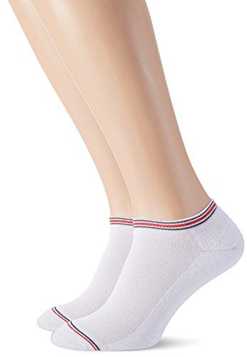 Tommy Hilfiger Herren TH MEN ICONIC SPORTS SNEAKER 2P Füßlinge & Sneakersocken, Weiß (White 300), 39/42 (2er Pack)