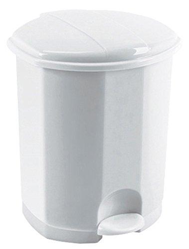 ROSSIGNOL Prima Poubelle Plastique Pédale 50L-Blanc, 41,8x40,7x58 cm