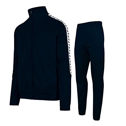 Diadora FZ Cuff Suit CHROMIA Tuta Blu Bianco 175101-60063 (M - Blu)