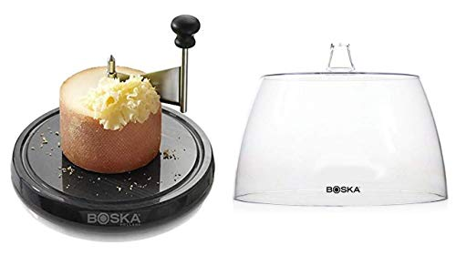 Boska Monaco Käseschaber Set Marmor mit Käseglocke 850520 + 850504