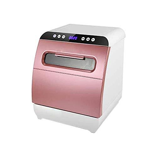 LKNJLL Portable Lave-Vaisselle Countertop, 5 programmes de Lavage, intégré 4 litres Réservoir d'eau, Cyclone 3D Vaporiser, Fruits et légumes de Nettoyage avec Panier, Haute température, séchage d'air