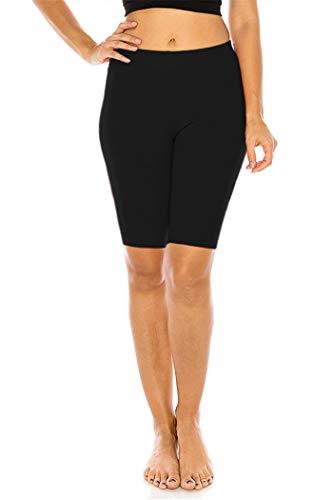 FUNGO Leggings Für Damen 1/2 Länge Capri Damen Sporthose Bunte Yoga Leggins F12 (Schwarz, 42)