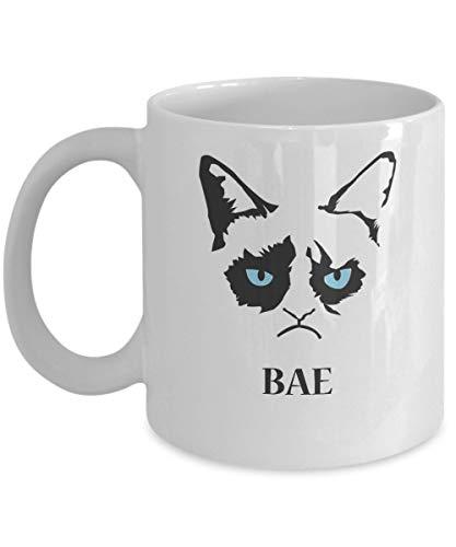 N\A BAE-Grumpy Cat Mug-Grumpy Cat Kaffeetasse-Grumpy Cat Merchandise-Ceramic Coffee White Mug -Personalisiertes Geschenk für Geburtstag, Weihnachten und Neujahr-Grumpy Cat Art-Grumpy Cat No Mug