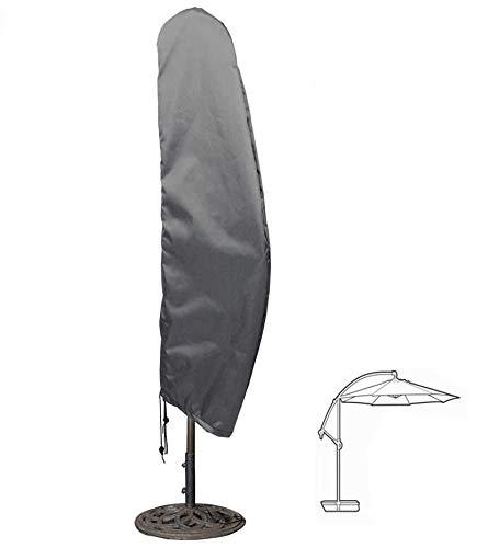 Hentex Sonnenschirm Schutzhülle, Mit faltbaren geliefert Fiberglasstab, Ampelschirm Wasserdichtes, Atmungsaktives Ø 350cm,250x85cm