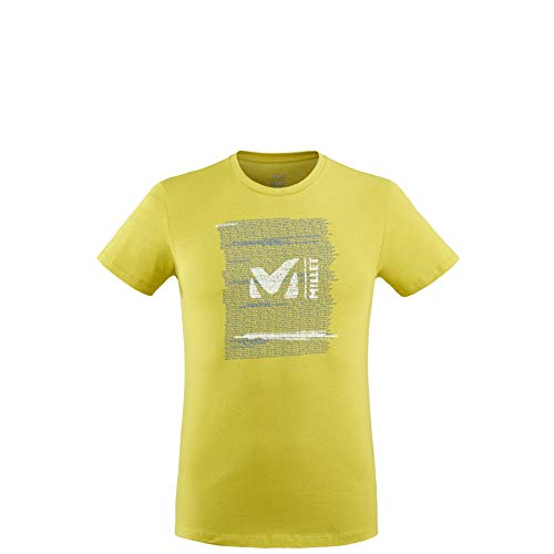 MILLET -Rise Up TS SS M - T-Shirt Sport Homme - Respirant - Alpinisme, Approche, Escalade, Lifestyle - Jaune