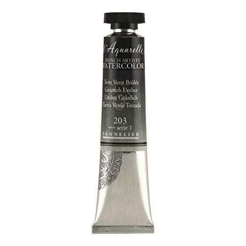 Sennelier L'Aquarelle French Watercolor, 21ml Tube, S1 Greenish Umber