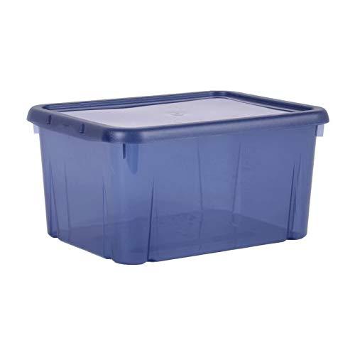 EDA Boîte de Rangement Funny Box 8 L Bleu Profond Acidulé