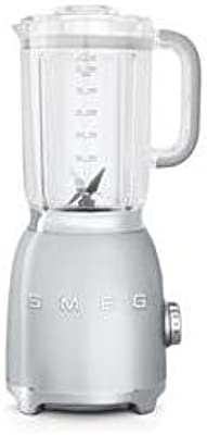 Smeg BLF01SVUS Retro Style Blender with 6 Cups Tritan BPA-Free Jug, Detachable Stainless Steel Dual Blades, Overload Motor Protection, 4 Speeds and 3 Preset Programs in Silver