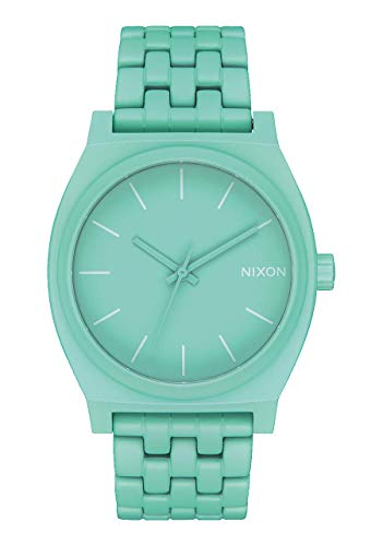 NIXON Time Teller A045 - Mint - 100m Water Resistant Men's Analog Fashion Watch (37mm Watch Face, 19.5mm-18mm Stainless Steel Band)