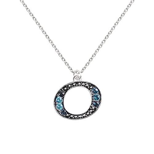AMOZ Startseite, Damen Silberfarbener Diamant Runde Halskette Kette Weibliche Persönlichkeit 26 Buchstabe, Für Weihnachten Home Amp, Garten Ornament Mode,Ö
