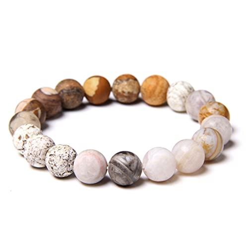 YZDKJ Universo Sistema Solar Pulsera Planetas de Piedra Natural Pulsera de Yoga Chakra Pulsera para Mujeres Menores Best Friends Energy Jewelry Regalos 10mm (Length : 19CM, Metal Color : 3)