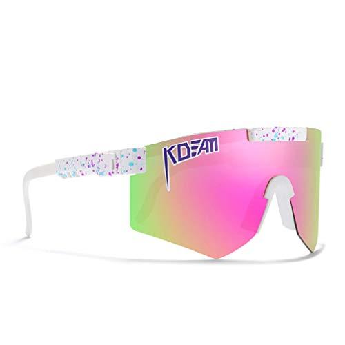 Gafas De Sol Polarizadas Deportivas, Gafas De Sol De Ciclismo, Gafas De Sol Deportivas Polarizadas, para Hombres Y Mujeres Al Aire Libre A Prueba De Viento,E