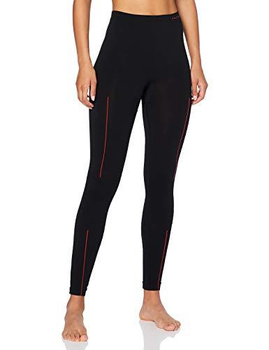 FALKE Damen Tights Long, atmungsaktive Leggings zum Skifahren, lange warme Funktionshose, 1 er Pack, Black-Fuego, M
