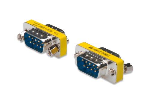 DIGITUS D-Sub 9 Gender-Changer - Adapter - 9-Pin Kupplung - Stecker zu Stecker - RS-232 - RS-485 - TTL - Metallgehäuse