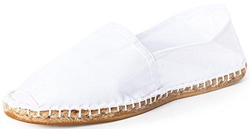 Sommerlatschen Espadrilles, klassisch, weiß, Unisex, SL1077, Größe 46