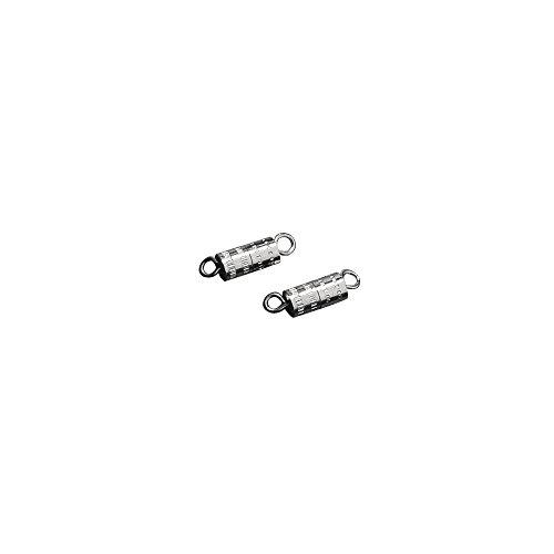 Rayher 2219721 Schraubenschließe, 5x11mm, SB-Btl 3Stück, platin