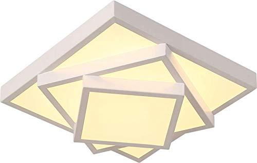 Style home 24W LED Deckenlampe Deckenleuchte für Wohnzimmer Schlafzimmer Kinderzimmer Warmweiß Quadratisch (Weiß)